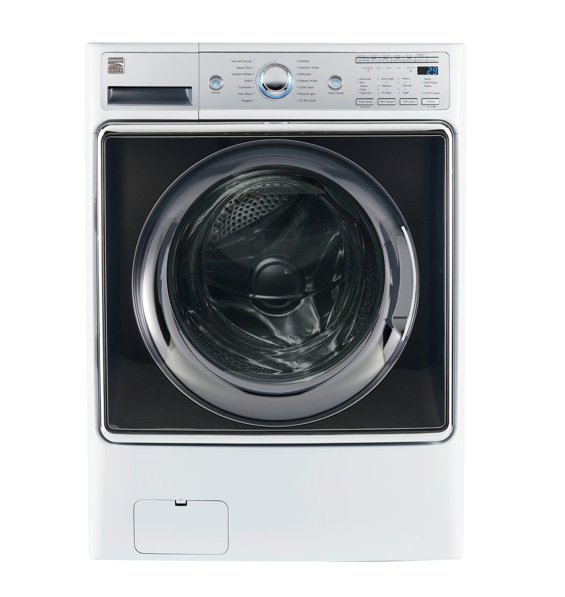 Kenmore 41982 5.2 Cubic Feet Smart Elite Front Load Washer with Accela Wash Technology, White, cu. ft
