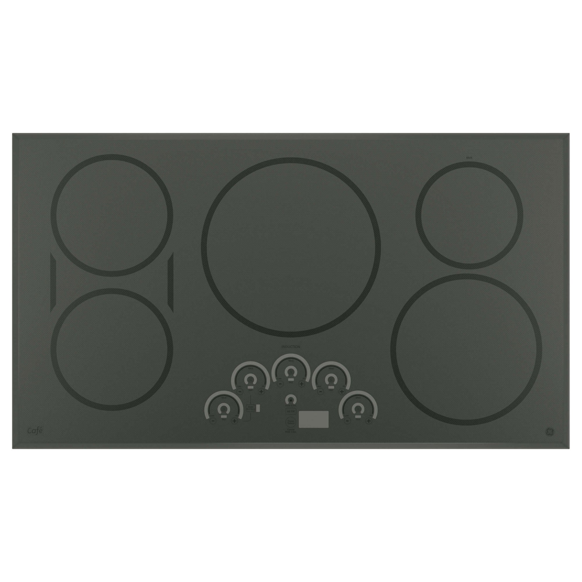 "GE CHP9536SJSS Cafe 36"" Gray Electric Induction Cooktop"