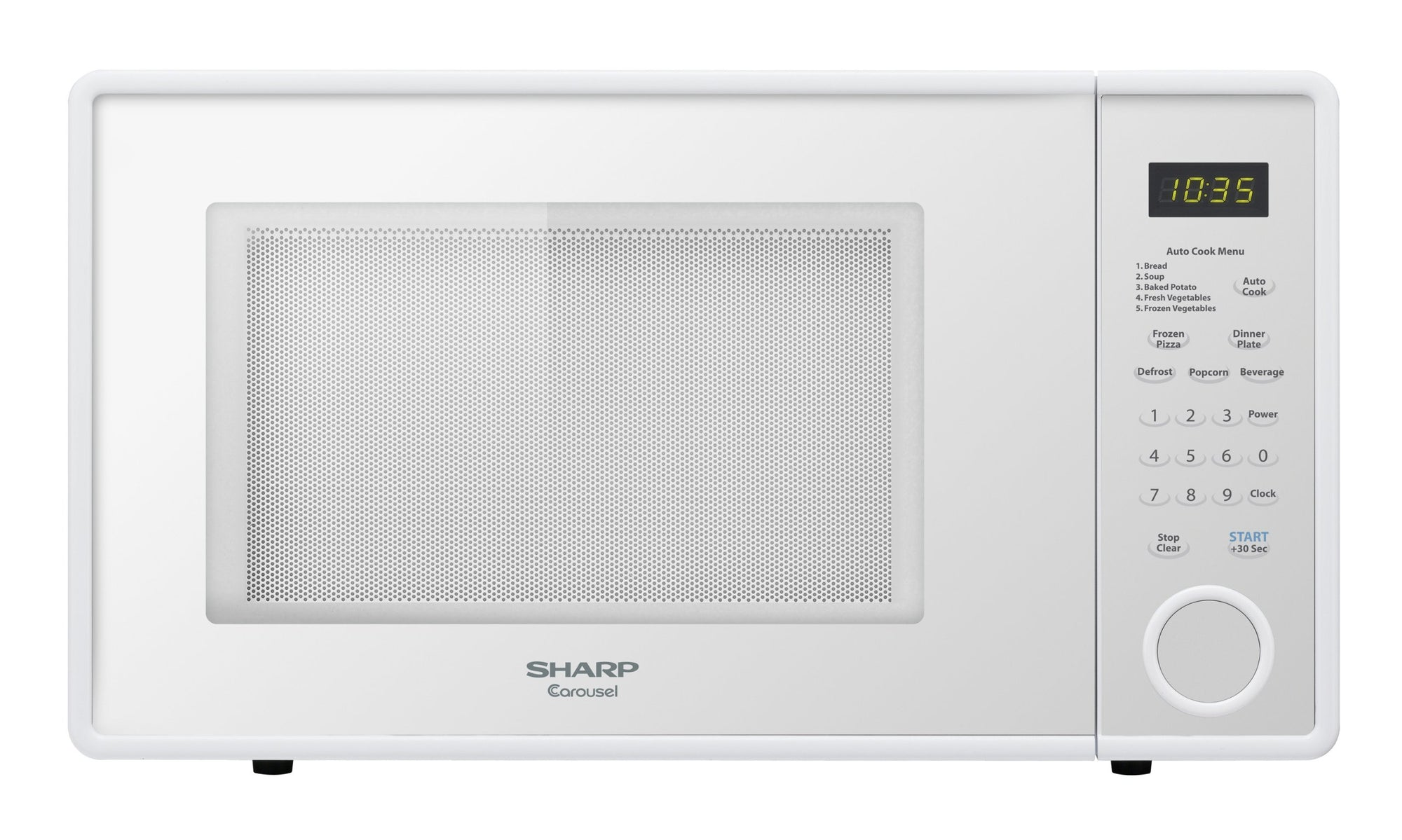 Sharp R-309YW Microwave (1.1 cu.ft.), White, Standard