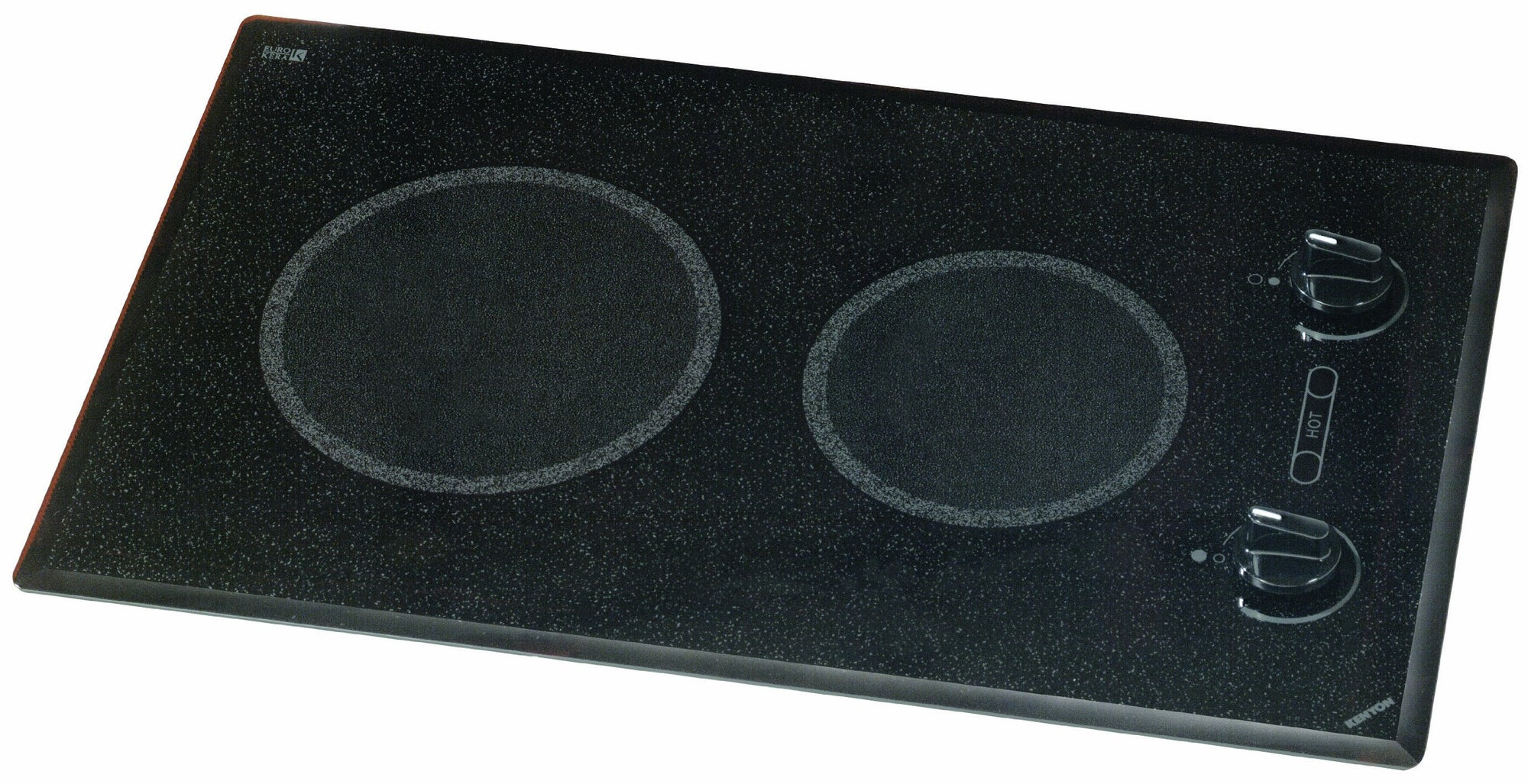 Kenyon B41511 6-1/2 and 8-Inch Mediterranean 2-Burner Cooktop with Analog Control UL, 240-volt, Black
