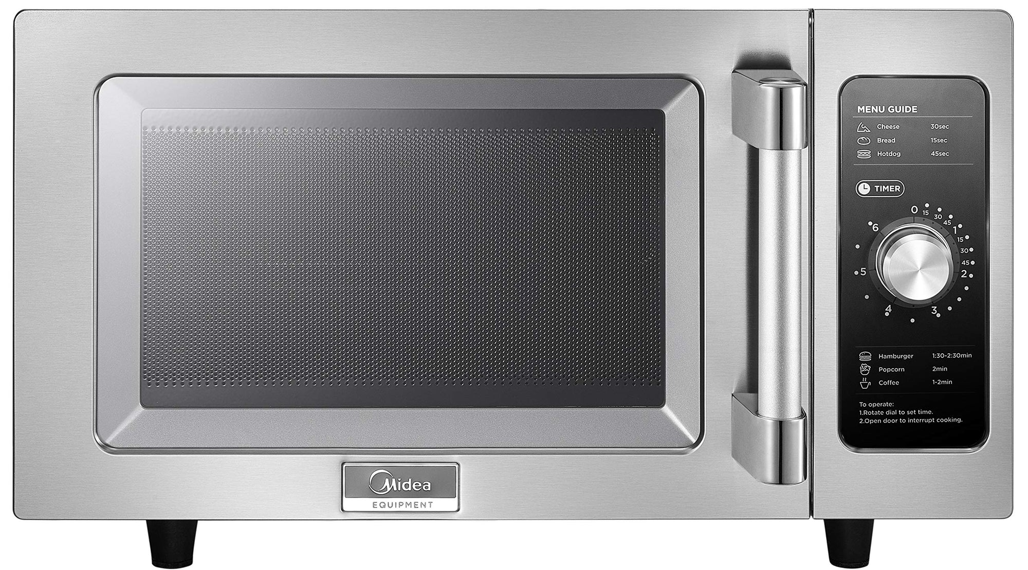 Midea 1025F0A Commercial Microwave, Stainless Steel