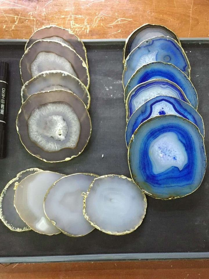 Natural Brown Agate coasters