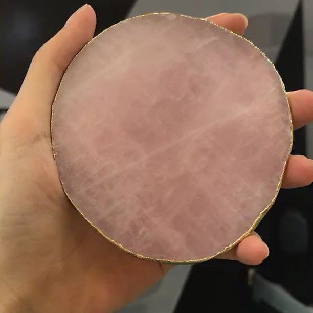 Rose Quartz Agate natural coasters