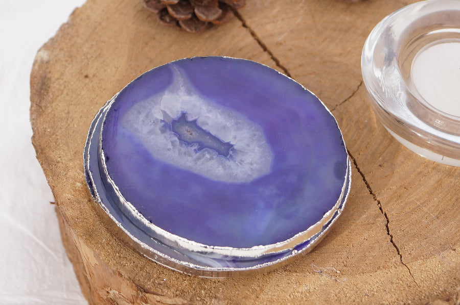 Purple Agate Coasters