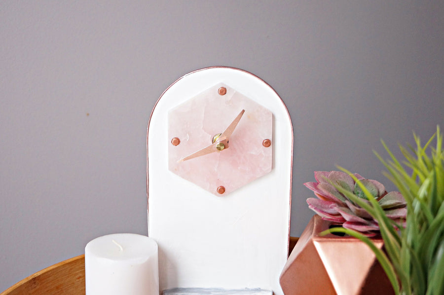 Purple Agate Clock , Agate Modern Clocks