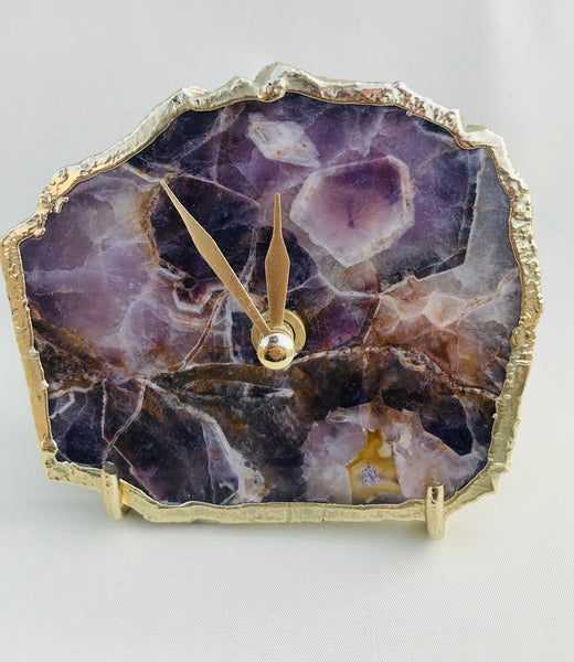 Amethyst Clock - Purple Desk Clock
