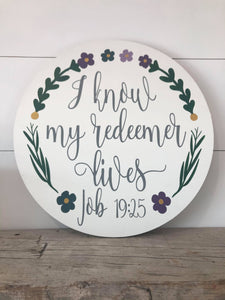 I Know That My Redeemer Lives Multi-Color Round