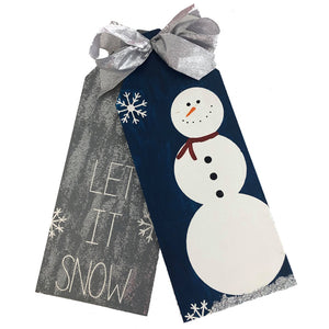 Let It Snow Door Tags