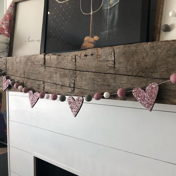 Monthly Wood & Felt Ball Garland