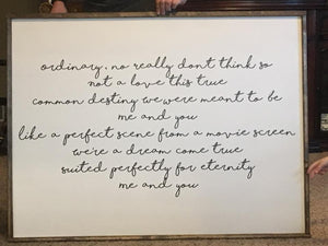 Ordinary Lyrics Sign