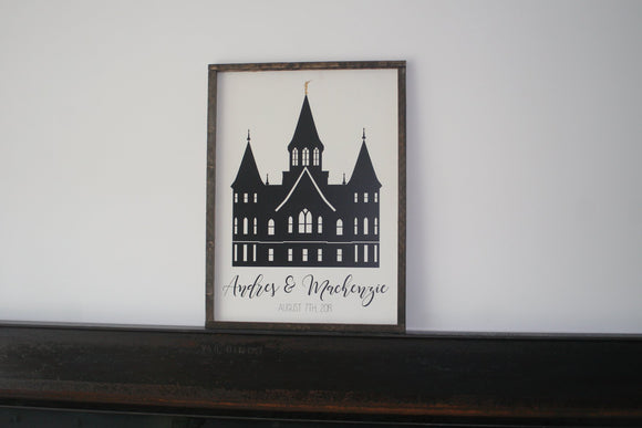 Customizable Temple Sign