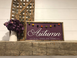 Autumn DIY Sign