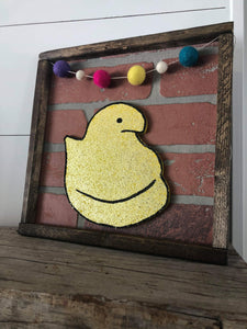 Craft Kit of the Month: Peep - Monthly Brick Sign