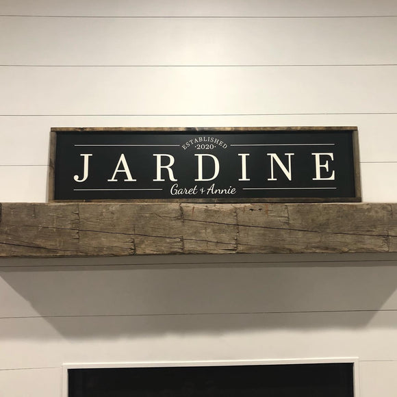Semi Custom Last Name Sign