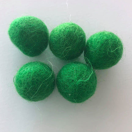Kelly Green Felt Balls