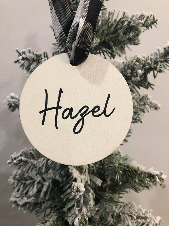 Personalized Round Ornaments/Stocking Tags