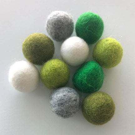 St. Patrick's Day Assorted Felt Balls
