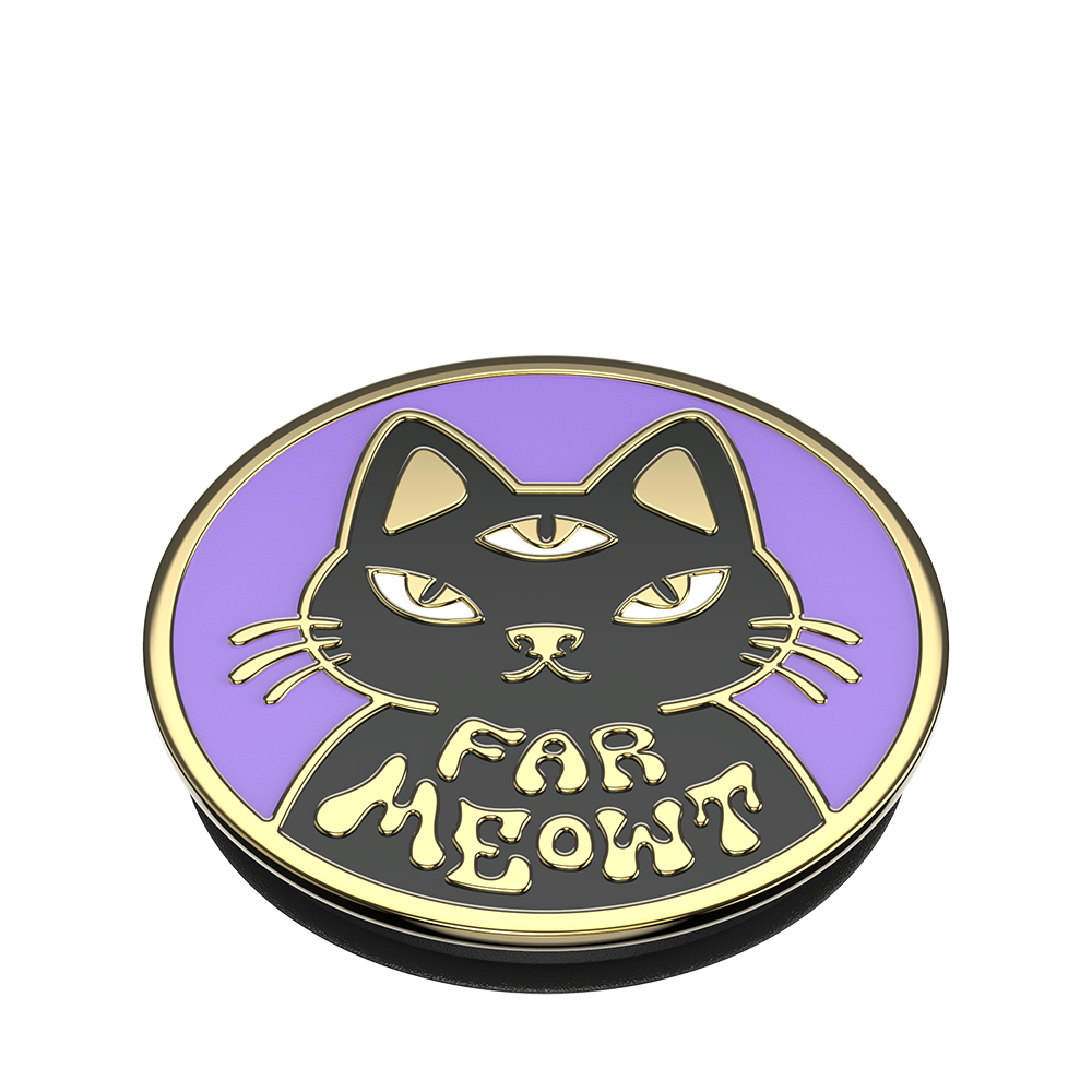 Far Meowt Enamel, PopSockets