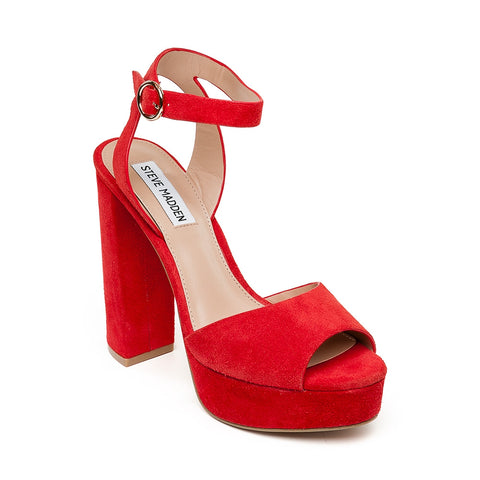 Madeline RED SUEDE