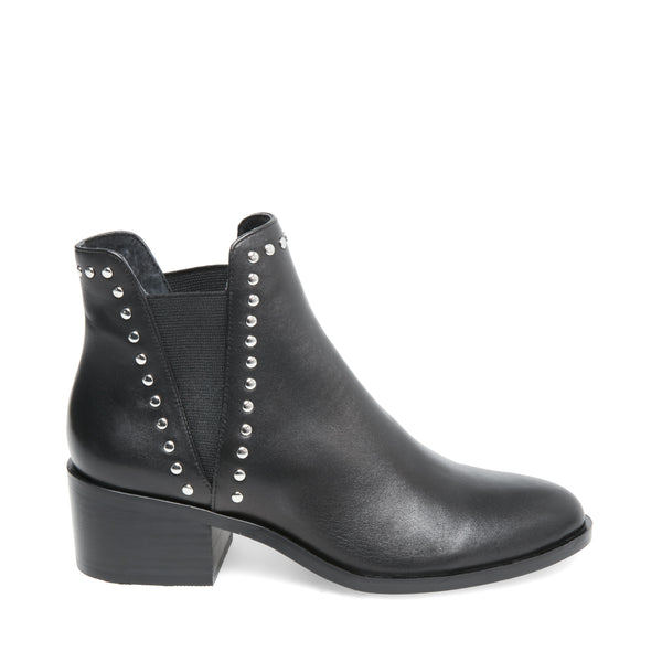 Cade Ankle Boot Black Leather | Steve