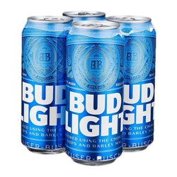 Cerveza importada Bud Light 4 latas de 473 ml c/u
