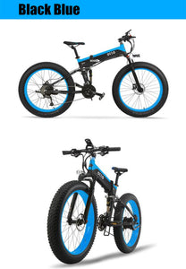 OTTO T500 Mountain Electric Bike Bicycle Foldable 48V 10A Shimano Fat Tyre 26 Inch