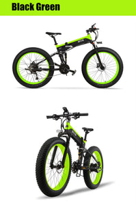 OTTO T500 Mountain Electric Bike Bicycle Foldable 48V 10A Shimano Fat Tyre 26 Inch-Mountain Bike-Otto-Green/Black-Power Bikes