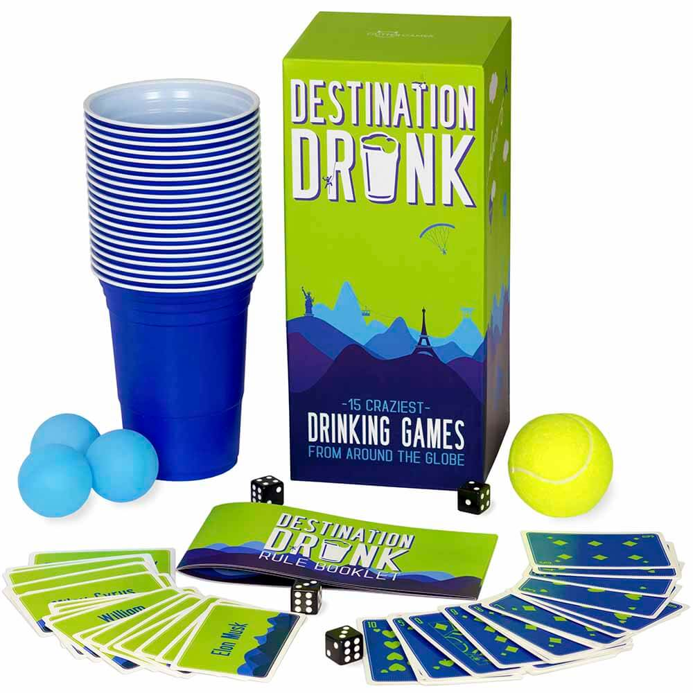 Destination Drunk Drinking Game Box Front