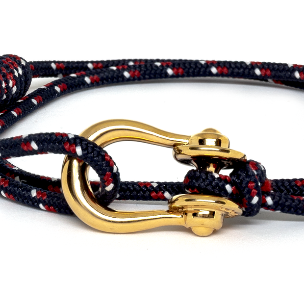 Kalymnos / Navy Patterned / Gold 3mm - Kalymnos - Inspired by Rock-climbing - Topologie JP