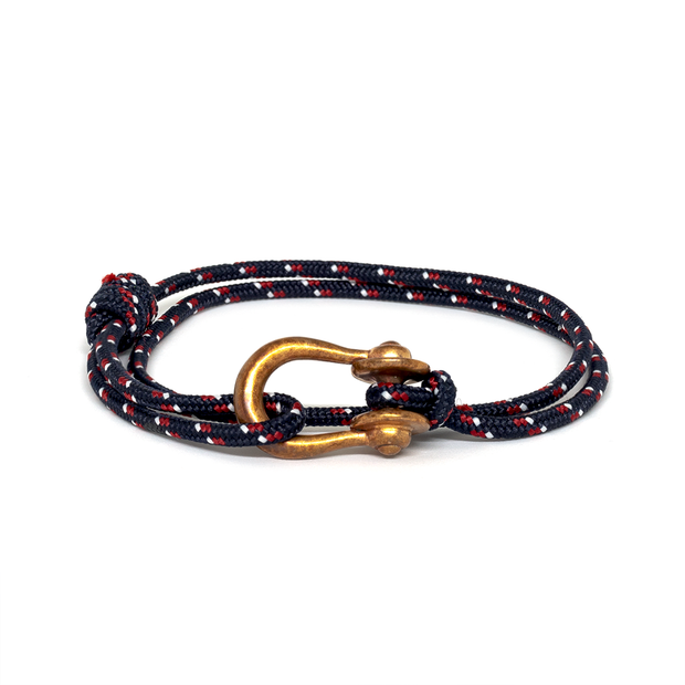 Kalymnos / Navy Patterned / Raw Brass 3mm - Kalymnos - Inspired by Rock-climbing - Topologie JP