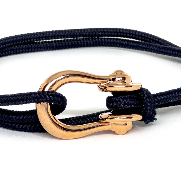 Kalymnos / Navy Solid / Rose Gold 3mm - Kalymnos - Inspired by Rock-climbing - Topologie JP