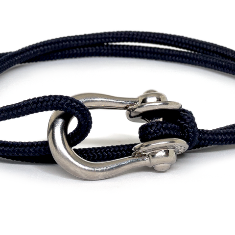 Kalymnos / Navy Solid / Silver 3mm