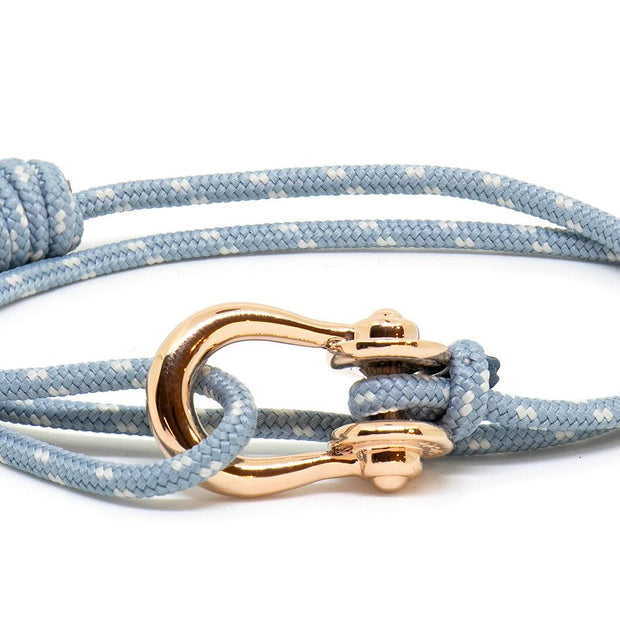 Kalymnos / Powder Blue Patterned / Rose Gold 3mm - Kalymnos - Inspired by Rock-climbing - Topologie JP
