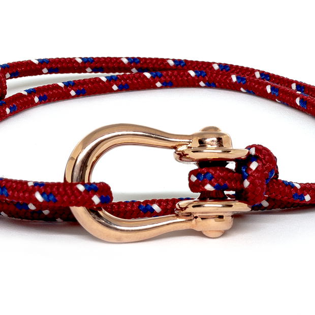 Kalymnos / Red Patterned / Rose Gold 3mm - Kalymnos - Inspired by Rock-climbing - Topologie JP