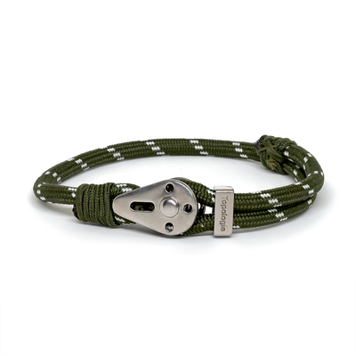 Yosemite / Green Patterned / Silver 5mm - Yosemite - Inspired by Rock-climbing - Topologie JP