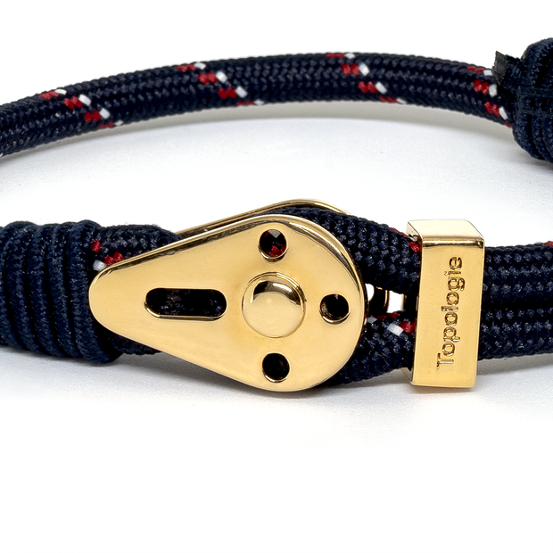 Yosemite / Navy Patterned / Gold 5mm - Yosemite - Inspired by Rock-climbing - Topologie JP