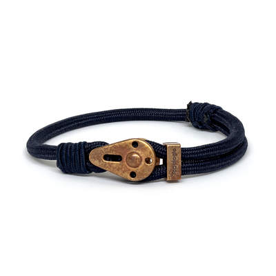 Yosemite / Navy Solid / Raw Brass 5mm - Yosemite - Inspired by Rock-climbing - Topologie JP