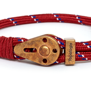Yosemite / Red Patterned / Raw Brass 5mm - Yosemite - Inspired by Rock-climbing - Topologie JP