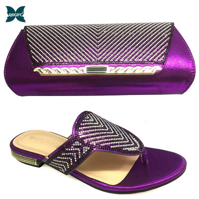2020 New Color Matching Shoes and Bag Set In Heels African Shoes and Matching Bags Italian design Matching Shoe and Bag Set
