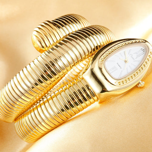 Gold Luxury Women's Snake Watches Fashion Quartz Wristwatches Ladies Bracelet Watch Clock Reloj Mujer relogio feminin