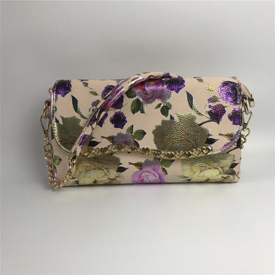 Charming Purple Flower HandBag Sac With Matching WENZHAN slip on shoes high heel pumps 36-43 For Any Event Party A99-5