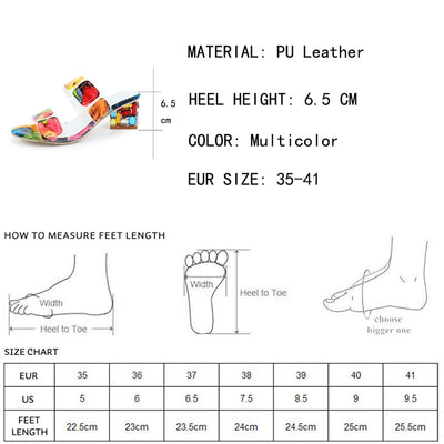 Lucyever 2019 Summer Women Multi Colors Sandals Fashion High Heels Open Toe Beach Flip Flops Ladies Crystal Heel Shoes Woman