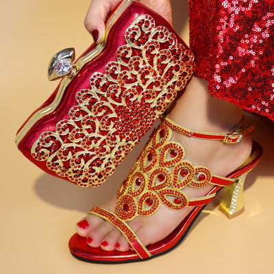 Shoes And Bag Sets With Matching Bags For Women African Shoes And Bag Set For Party