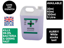 Load image into Gallery viewer, 5 Litre Hand Sanitiser Liquid