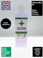 Load image into Gallery viewer, 60ml Hand Sanitiser Liquid