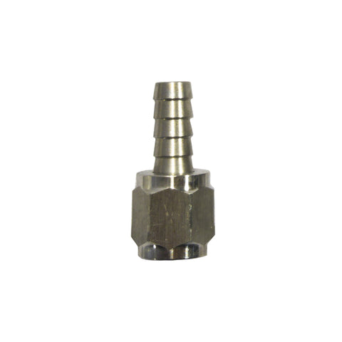 "1/4"" Barb X 1/4"" FFL Flare Swivel Adapter Stainless Steel Fitting"