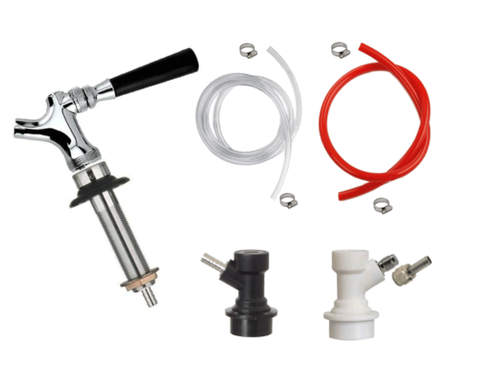 Add A Tap Draft Beer Kegerator Conversion Kit Faucet & Ball Lock Fittings + Hose