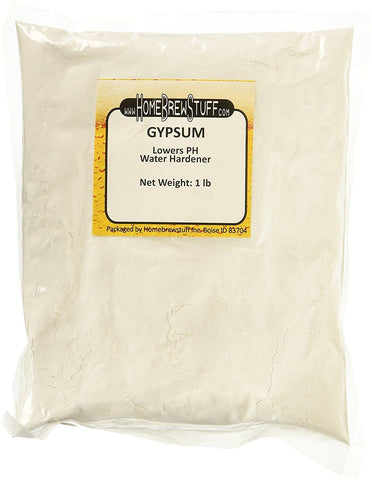 1lb GYPSUM Calcium Sulfate Water Softener Increase Acid Homebrew Beer Mead Cider