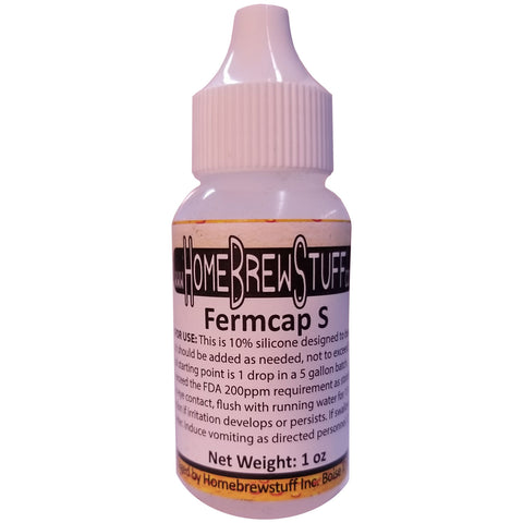 FermCap S - Homebrew Beer Anti-Foam Inhibitor - 1oz Size