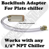 Back-Flush Cleaning Adapter for Beer Wort Plate Chiller Home Brewing